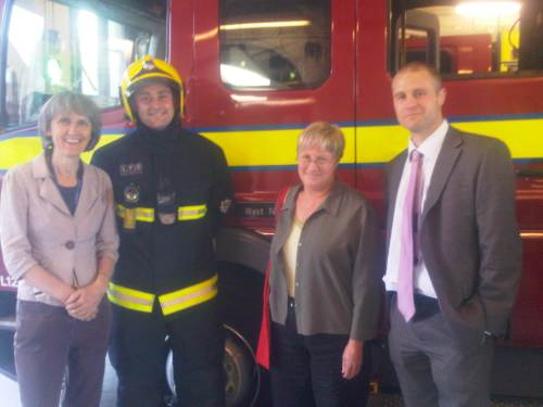 Picture of Councillors at fire Station