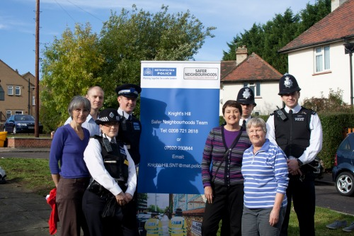 Knights Hill police team , councillors & Val Shawcross