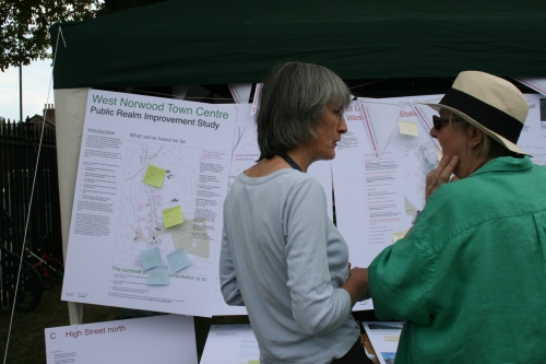 Norwood Road consultation in action