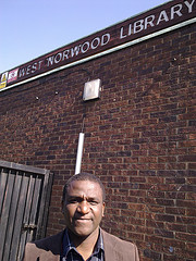 Olu Opanuga, chair of Friends of West Norwood Library