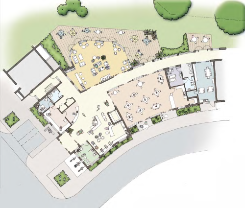 Plan of the sheltered housing