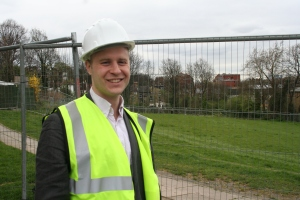 Cllr Mike Smith on site