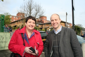Val and Mike on campaign trail
