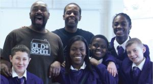 Lenny Henry & Adrian Lestor at the Norwood School