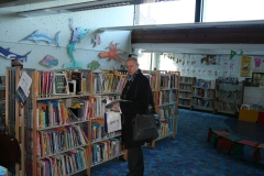Mike Smith at Children's Library in Nettlefold Hall