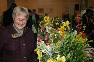 Cllr Pickard at the Spring Flower Show in St Lukes