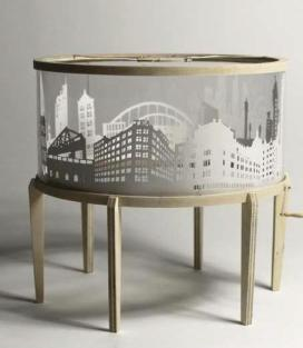 One of the five London cityscape carousels