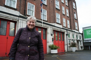 Cllr Pickard at West Norwood Firestation