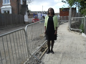 Sonia Winifred at Devane Way road works