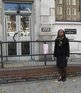 Sonia Winifred outside 270 Norwood Road