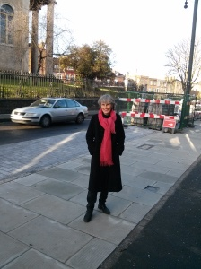 Cllr. Jackie Meldrum in Norwood High Street