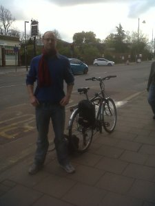 Cllr Mike Smith at Robson Road junction