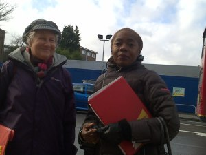 Jane Pickard & Sonia Winifred at proposed Lidl site