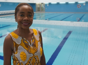 Sonia Winifred at the West Norwood pool