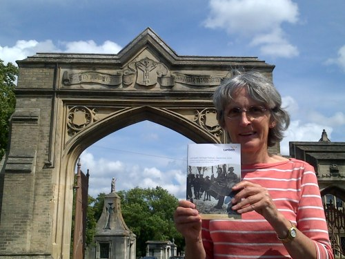 Jackie Meldrum with Heritage Festival booklet