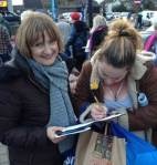 Signing Tessa's petition