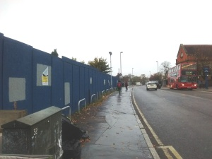 Lidl site from Crown Lane