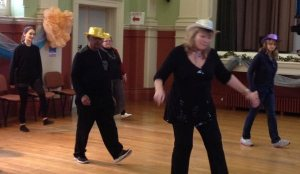 Line dancing at The British Home