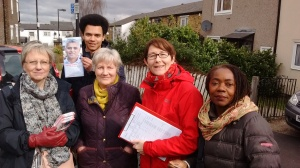Campaigning for Sadiq Khan in West Norwood