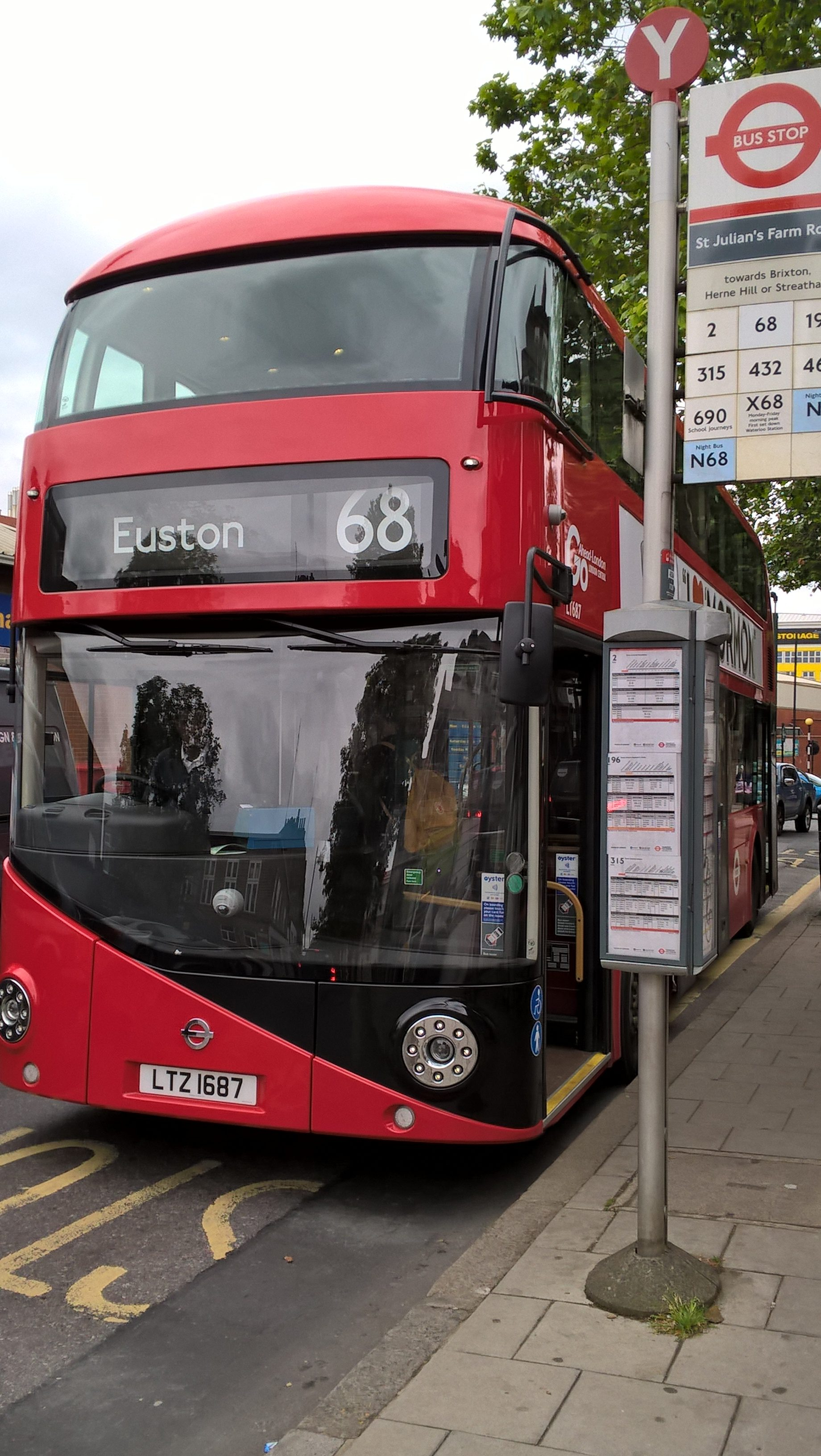 68 Rt Charger: New Stop For 68 Bus