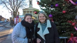 Cllrs Anna Birley & Lib Peck admiring Norwood's Christmas tree