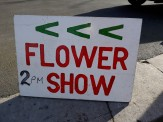 flower show sign